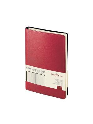 Ежедневник а5 milano (красный) Bruno Visconti. Цвет: красный