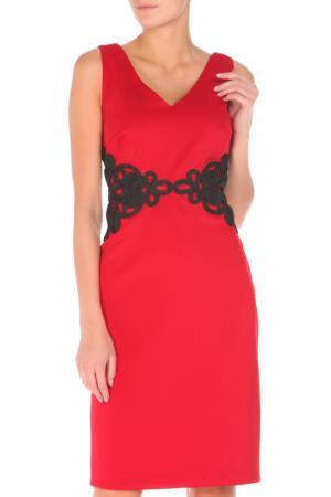 Платье Groupe JS. Цвет: красный, черный