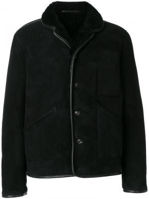 Куртка из овчины на пуговицах YMC. Цвет: чёрный