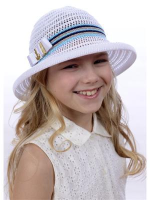 Шляпа Сиринга. Цвет: белый,синий,бирюзовый