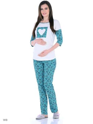 Комплект для беременных и кормящих FEST. Цвет: бирюзовый, молочный
