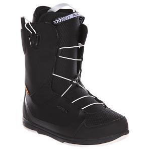 Ботинки для сноуборда  Alpha Black Deeluxe. Цвет: черный