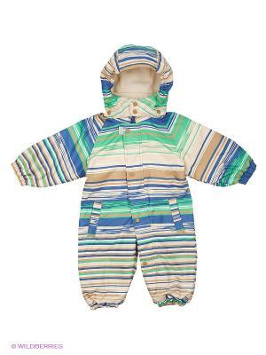 Комбинезон Baby Club. Цвет: бежевый, синий, зеленый