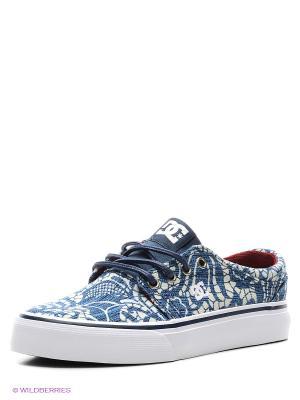 Кеды DC Shoes. Цвет: синий, белый