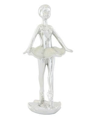 Фигурка декоративная Балерина Elan Gallery. Цвет: серебристый, белый