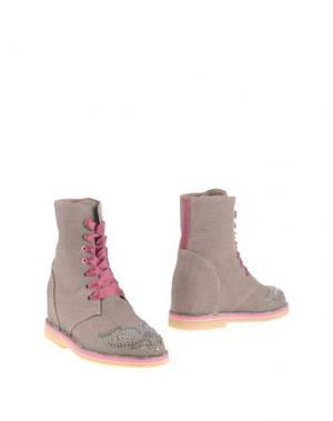 Полусапоги и высокие ботинки PASSION BLANCHE. Цвет: голубиный серый