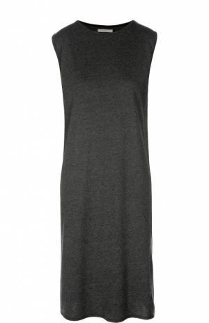 Платье без рукавов прямого кроя 6397. Цвет: черный