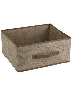 Ящик для хранения LINEN Beige WHITE FOX. Цвет: светло-коричневый
