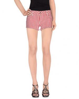 Джинсовые шорты SIWY. Цвет: красный