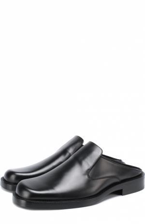 Кожаные сабо Standart с квадратным мысом Balenciaga. Цвет: черный