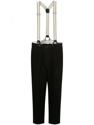 Tapered trousers with braces Aleksandr Manamïs. Цвет: чёрный