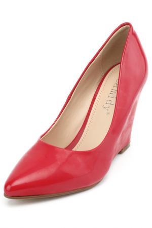 Туфли Brucco. Цвет: красный