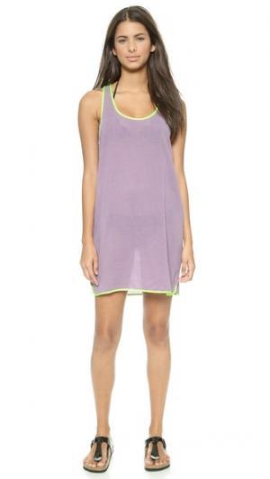 Пляжное платье Mid со спиной-борцовкой Surf Bazaar. Цвет: морской ёж/планктон