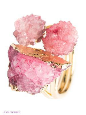 Кольцо Kameo-bis. Цвет: розовый, золотистый
