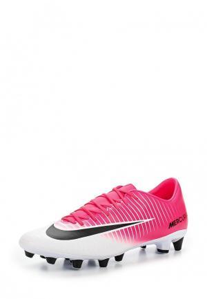 Бутсы Nike. Цвет: розовый