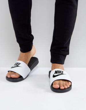 Nike Белые шлепанцы Benassi JDI 343880-100. Цвет: белый