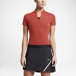 Женская рубашка-поло для гольфа  AeroReact Nike. Цвет: оранжевый