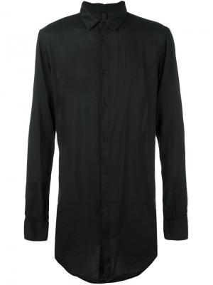 Однобортная рубашка Poème Bohémien. Цвет: чёрный