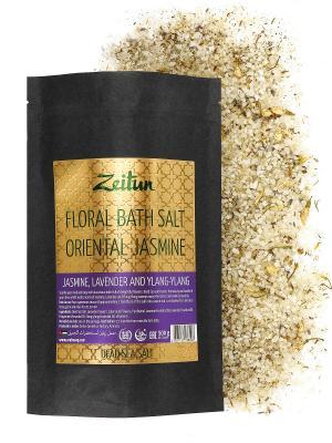 Цветочная соль для ванн Экзотический жасмин. Жасмин, иланг-иланг и лаванда Зейтун Z2124