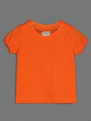 Футболка ЕМАЕ. Цвет: оранжевый