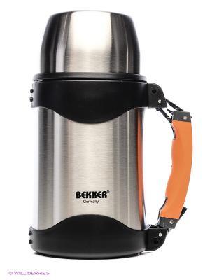 Термос металлический Bekker. Цвет: серый