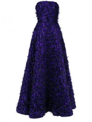 Вечернее платье Violeta без бретелек Bambah. Цвет: розовый и фиолетовый
