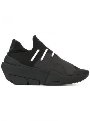 Кроссовки с эластичными вставками Y-3. Цвет: чёрный