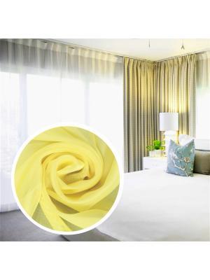 Вуаль Amore Mio однотонная 300*270 см желтый. Цвет: желтый