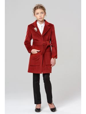 Классическое пальто MORU. Цвет: бордовый