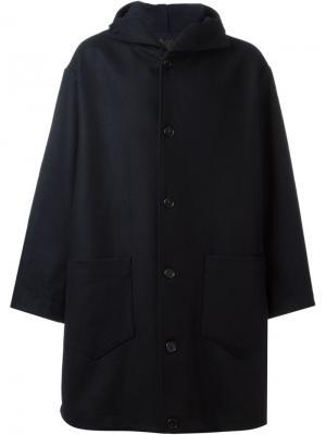 Пальто с капюшоном Cini. Цвет: синий