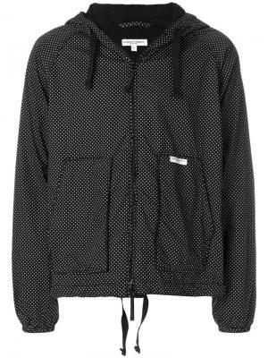 Куртка с капюшоном узором в горох Engineered Garments. Цвет: чёрный