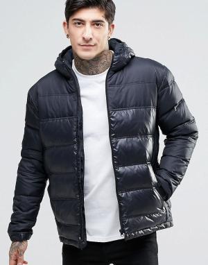 Fat Moose Стеганая куртка с капюшоном Cosmo. Цвет: черный