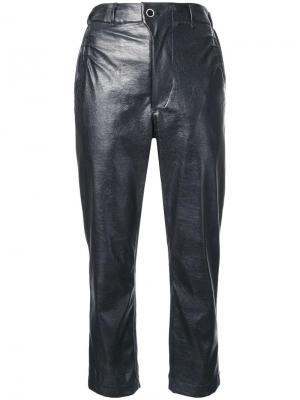 Укороченные брюки Julien David. Цвет: чёрный