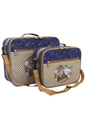 Детский чемодан TOITO WEAR. Цвет: синий