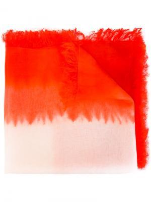 Платок с необработанными краями Suzusan. Цвет: красный