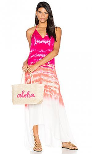 Платье shanice Young Fabulous & Broke. Цвет: розовый