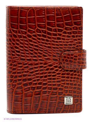 Обложка для автодокументов и паспорта Sergio Belotti. Цвет: коричневый, терракотовый