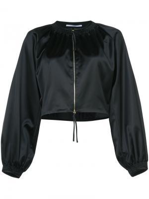 Укороченная куртка на молнии Rosetta Getty. Цвет: чёрный