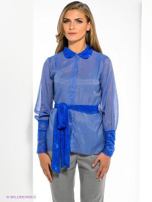 Блузка SUGARLIFE. Цвет: синий
