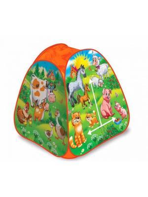 Игровая Палатка Играем Вместе Веселая Ферма В Сумке.. Цвет: зеленый, оранжевый