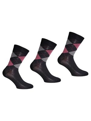 Носки 3 пары Master Socks. Цвет: черный