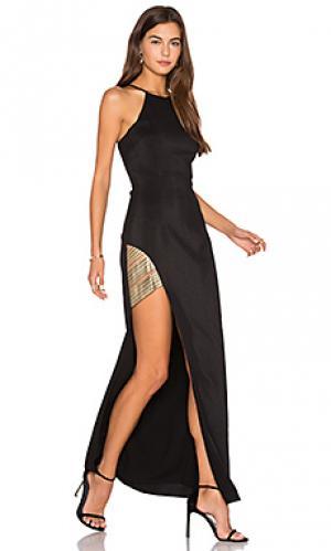 Макси-платье холтер between the lines Lumier. Цвет: черный