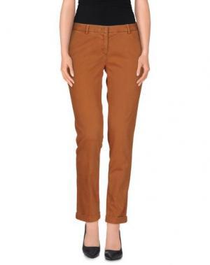 Повседневные брюки MONOCROM. Цвет: коричневый