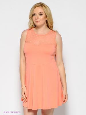 Платье New Look. Цвет: коралловый