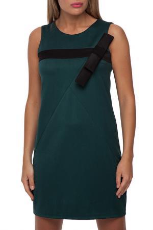Платье Gloss. Цвет: темно-зеленый, черный