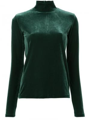 Velour turtle neck top G.V.G.V.. Цвет: зелёный