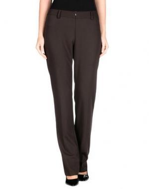 Повседневные брюки ELISIR. Цвет: темно-коричневый