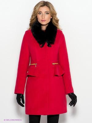 Пальто Klimini. Цвет: красный
