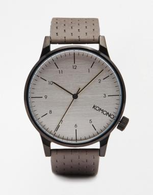 Komono Серые часы Winston. Цвет: серый