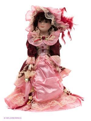 Кукла фарфоровая Изольда Lisa Jane. Цвет: бледно-розовый, красный, розовый